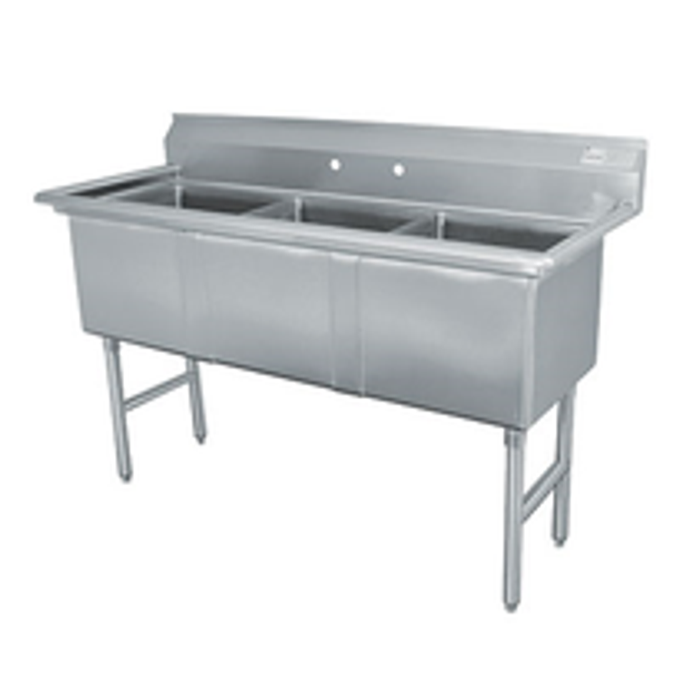 Advance Tabco 3 Compartment Sink