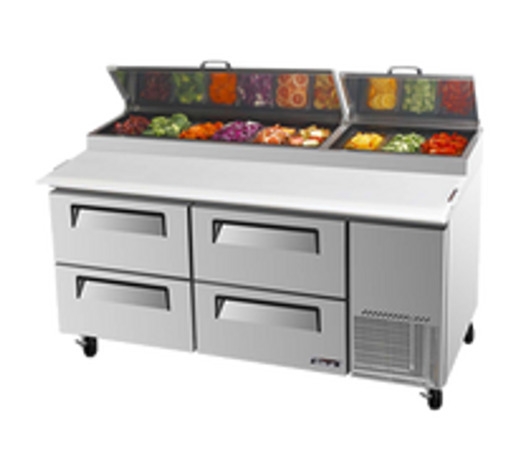 Turbo Air Pizza Preparation Refrigerator