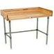 Wood Top Work Table