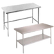 Stainless Steel Open Base Work Table