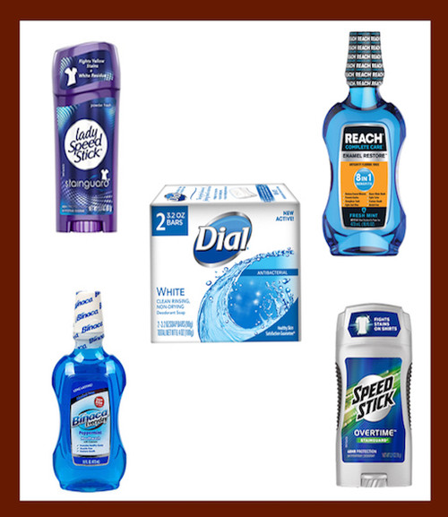 Personal Care Pack - 2 Mouthwash, 2-2pack Soap, 1 Deodorant