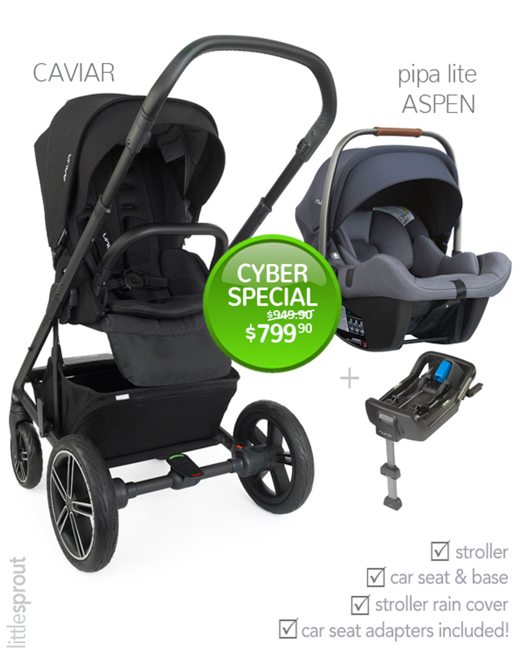 2018 Nuna MIXX2 Stroller + 2019 Nuna PIPA™