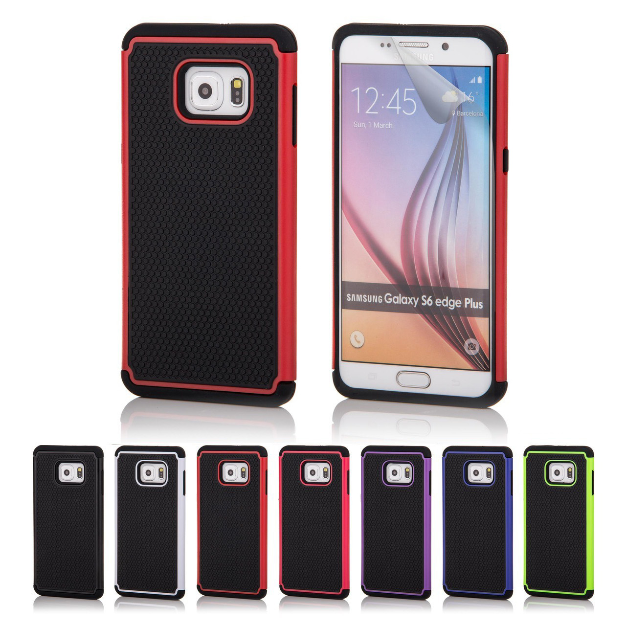 info for a00f7 1d2b6 Samsung Galaxy S6 Edge Plus Dual-Layer Shockproof Case