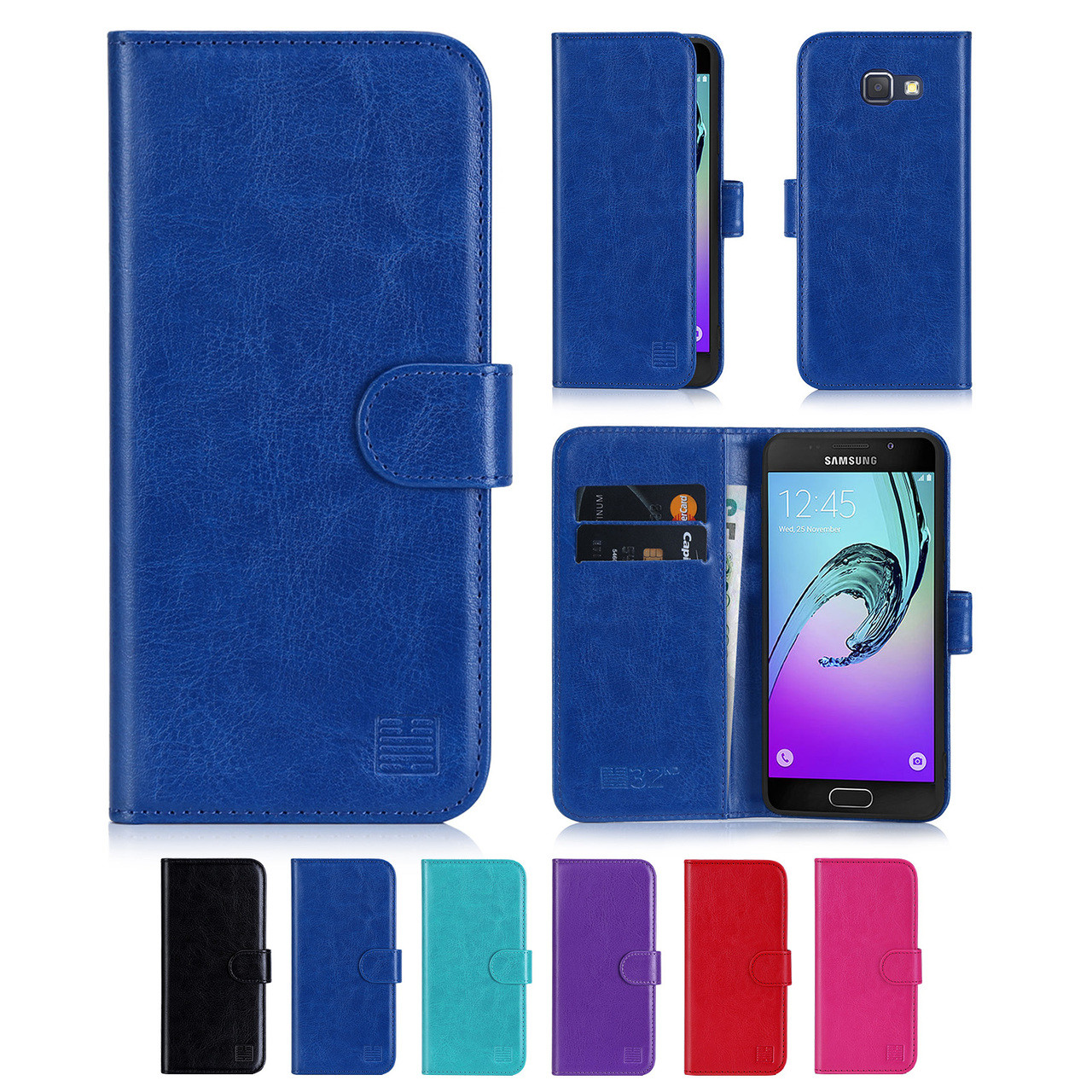 new product 5e897 12ecb Samsung Galaxy A3 (2016) PU Leather Book Wallet Case