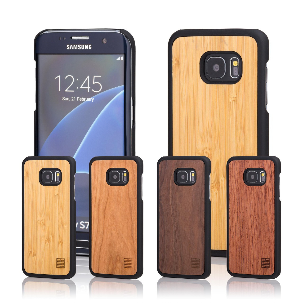low priced 79db4 cb6ee Samsung Galaxy S7 Edge Wooden Back Cover Case