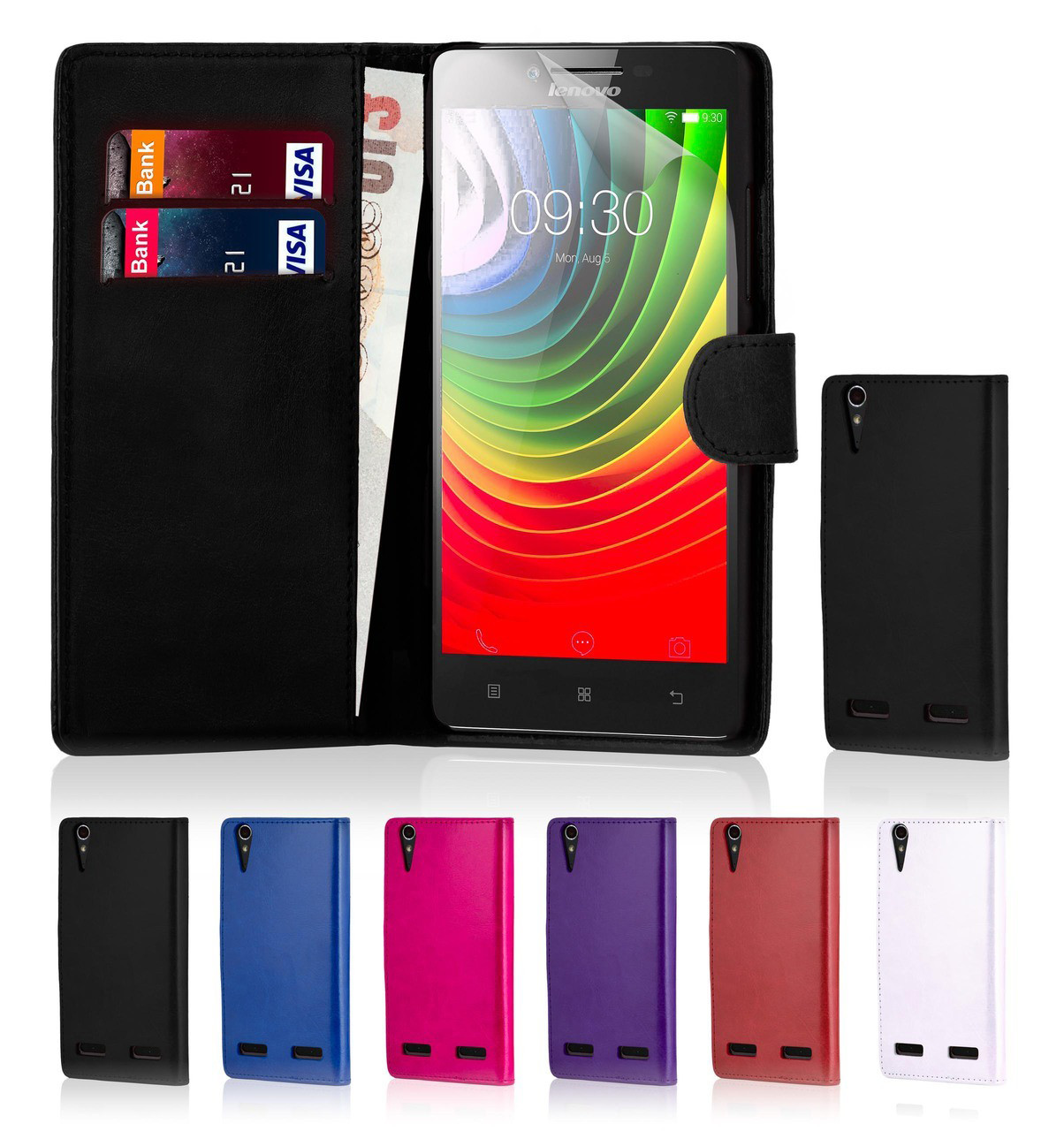 first rate 848d0 fde27 Lenovo Vibe K5 Plus PU Leather Book Wallet Case
