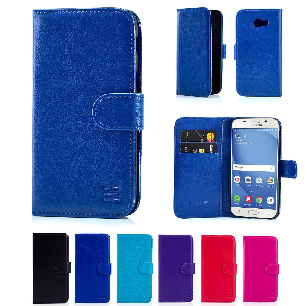superior quality efc5e d1a48 Samsung Galaxy A5 (2017) PU Leather Book Wallet Case