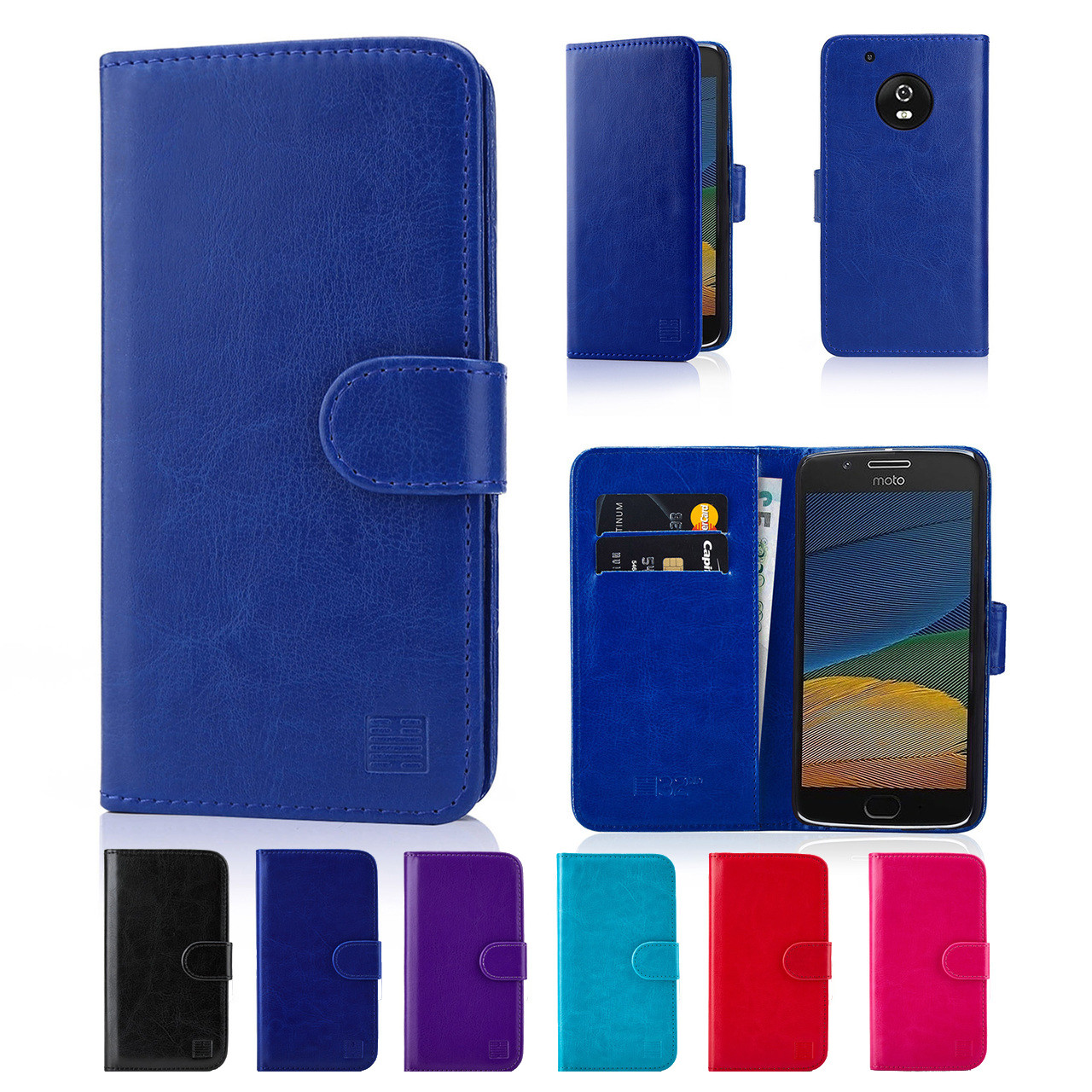 newest collection 98568 bafb0 Motorola Moto G5 Plus PU Leather Book Wallet Case