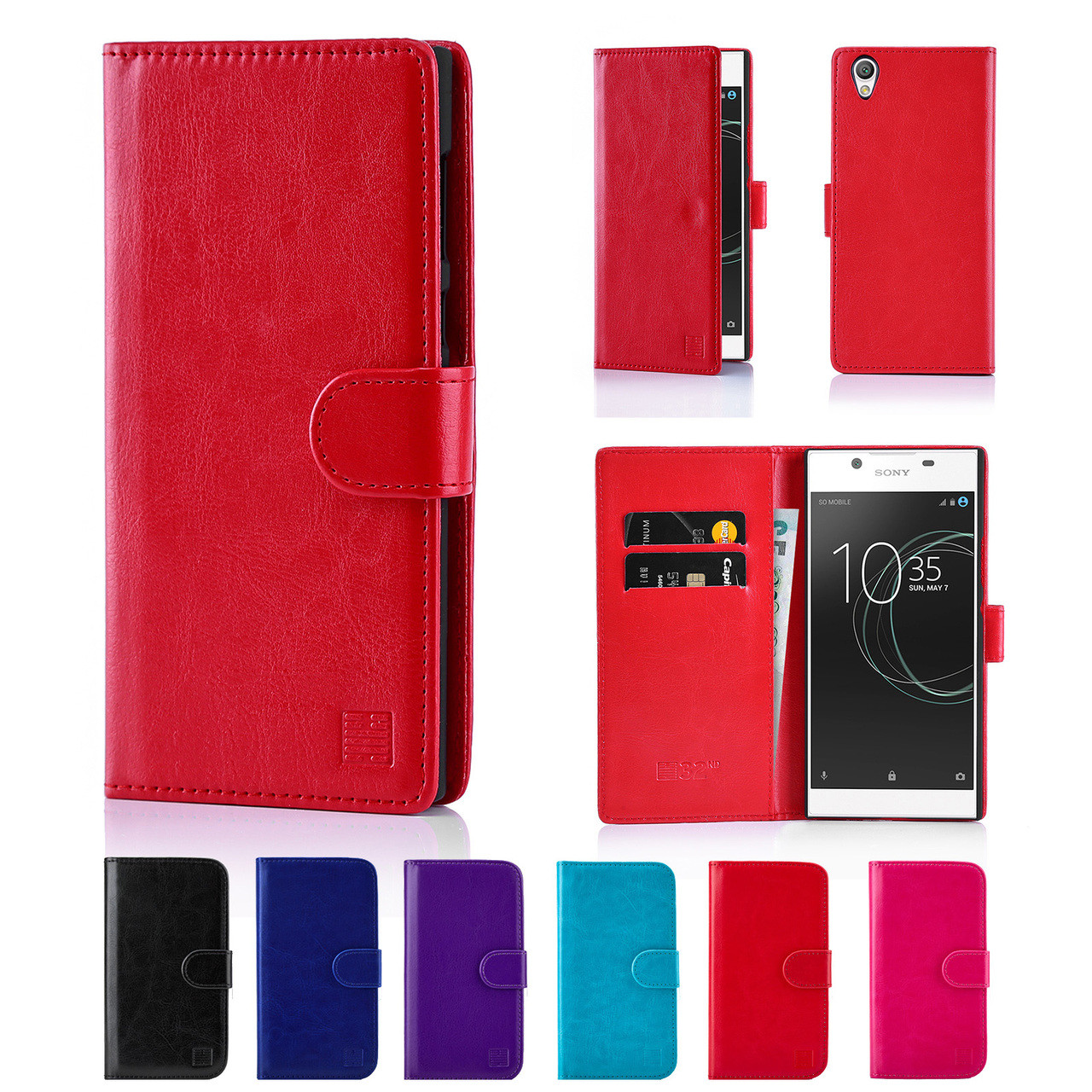 new styles 5ae58 7e761 Sony Xperia L1 PU Leather Book Wallet Case