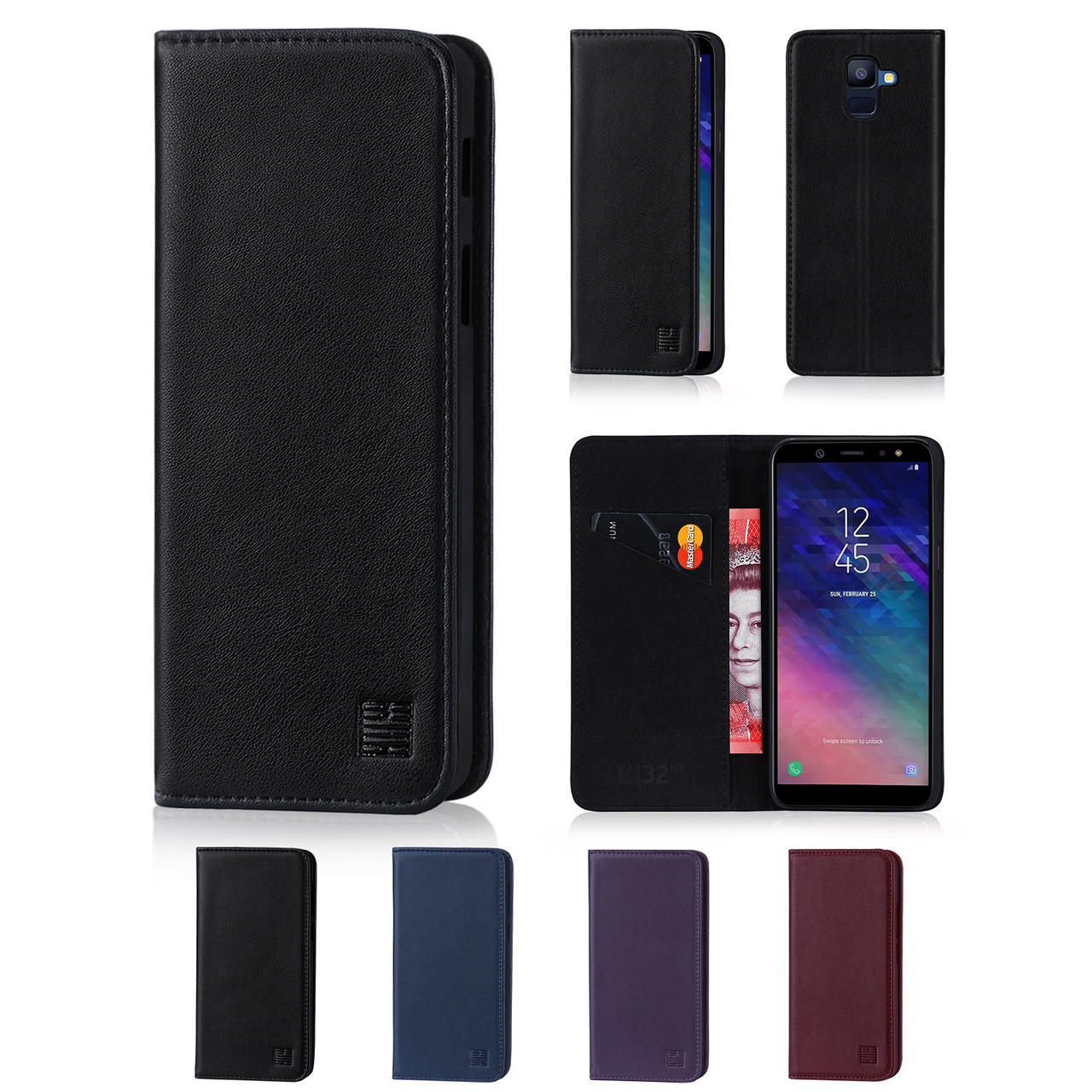 f08d8a5c48e 32nd real leather classic wallet Samsung Galaxy A6 (2018) Case in a range of