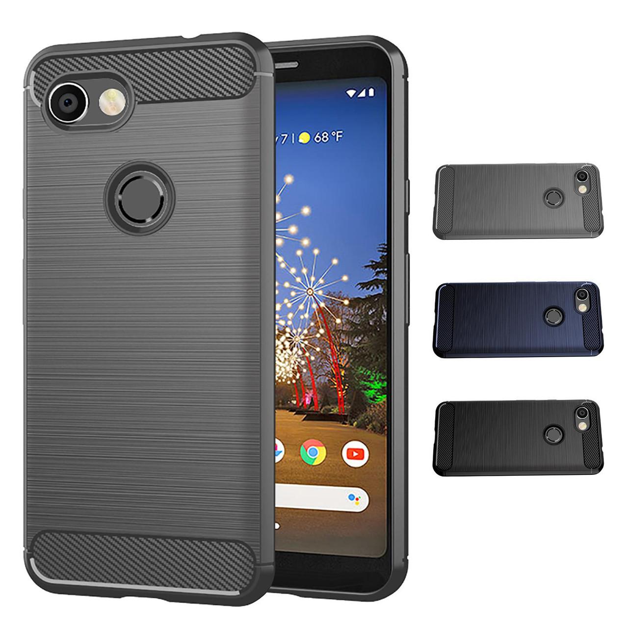 buy popular 95965 78fae Google Pixel 3A 'Carbon Series' Slim Armour Case Cover