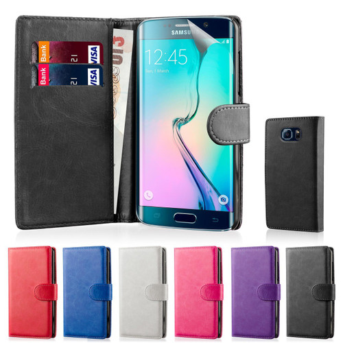 32nd synthetic leather book wallet Samsung Galaxy S6 Edge Case.