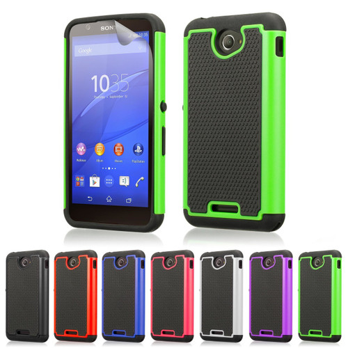 32nd dual-layer shockproof Sony Xperia E4G Case in a range of great colours.