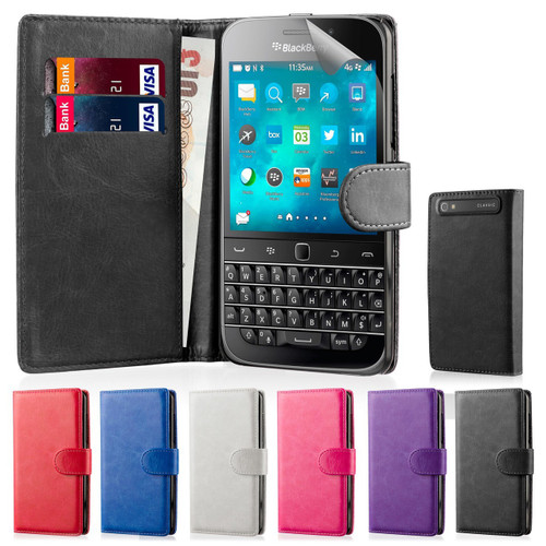 32nd synthetic leather book wallet Blackberry Classic Q20 Case in a range of colours.