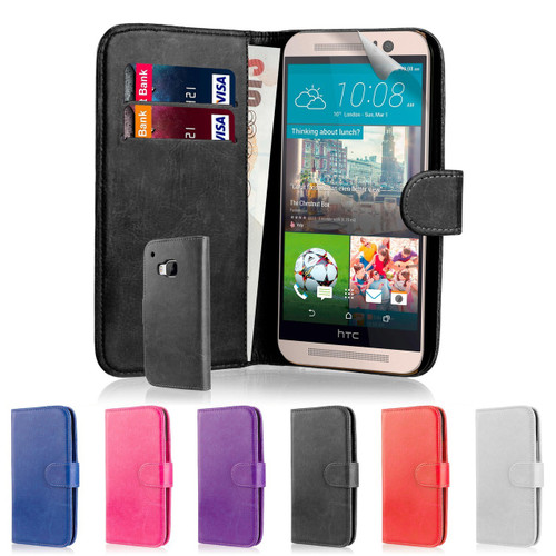 32nd faux leather book wallet HTC One M9 Case.