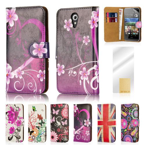 32nd attractive faux leather design book wallet HTC Desire 620 Case.