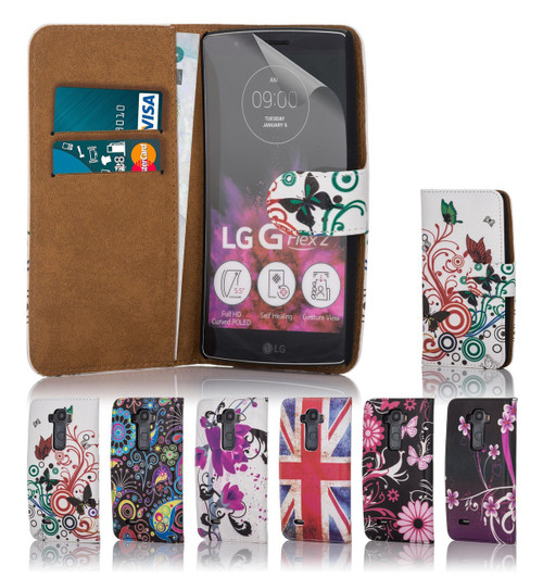 32nd attractive leather design book wallet LG G Flex 2 Case.