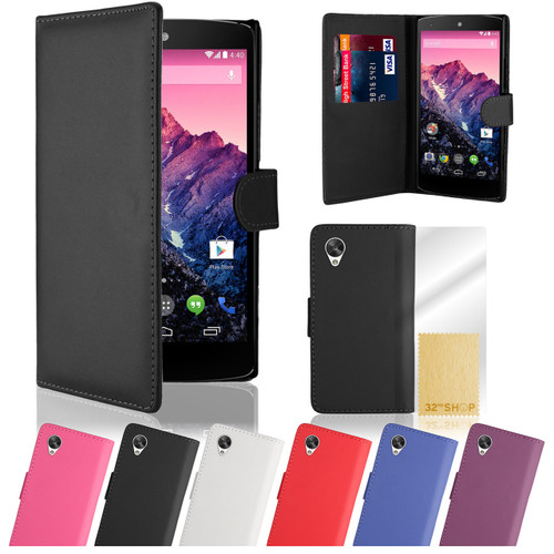32nd faux leather book wallet Google Nexus 5 Case in a great range of colours.