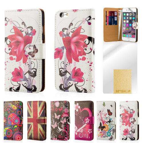 32nd colourful leather design book wallet Apple iPhone 6 Plus 5.5 inch Case.