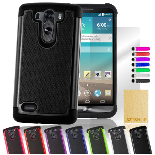 32nd dual-layer shockproof LG G3 Mini Case in a great range of colours.