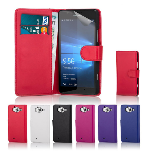 32nd synthetic leather book wallet Microsoft Lumia 950 Case in a great range of colours.