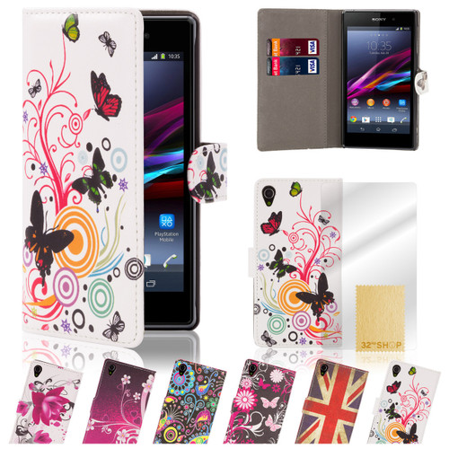 32nd faux leather design book wallet Sony Xperia Z2 Case.