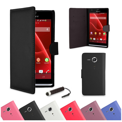 32nd faux leather book wallet Sony Xperia SP Case in a range of attractive colours.