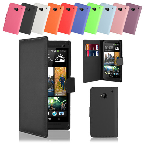 32nd faux leather book wallet HTC One M7 Case in a range of attractive colours.