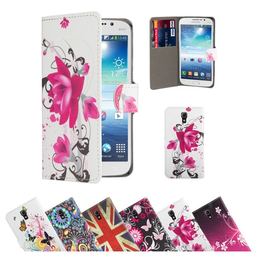 32nd stylish leather design book wallet Samsung Galaxy Mega Case.