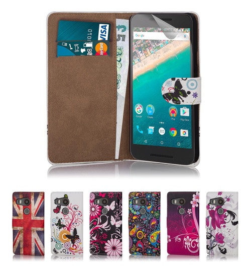 32nd attractive faux leather design book wallet Google Nexus 5X Case.