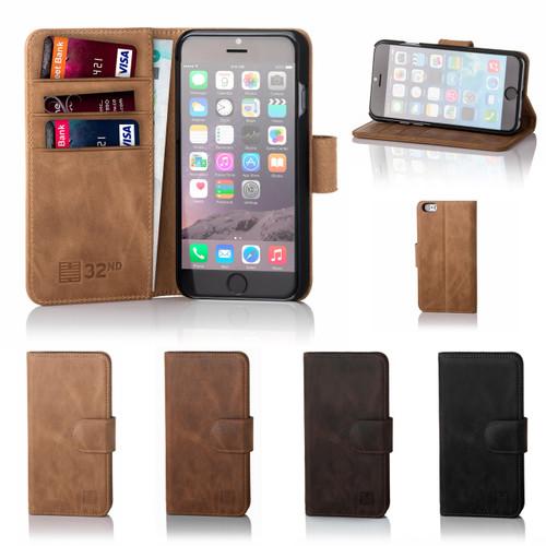 5ccb00861df8 Apple iPhone 6 Plus / 6S Plus Premium Leather Book Wallet Case