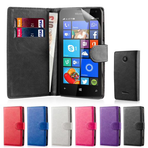32nd faux leather book wallet Microsoft Lumia 650 Case in a range of fantastic colours.