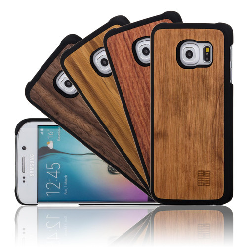 32nd wooden back Samsung Galaxy S6 Edge Case.