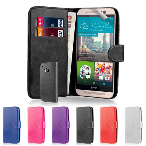 32nd Shop Book wallet HTC 10 case made from soft and durable synthetic leather including screen protector and stylus.