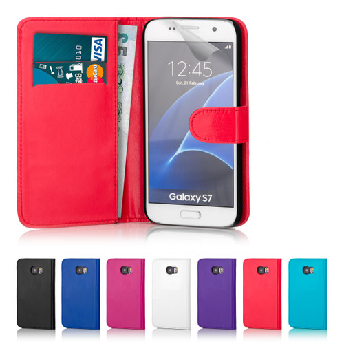 32nd Shop pu leather wallet style Samsung Galaxy S7 Case comes in 7 fantastic colours to suit your personality and includes screen protector and stylus.