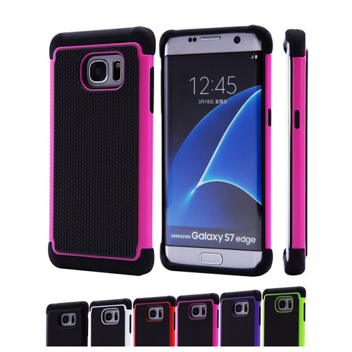 32nd dual-layer shockproof Samsung Galaxy S7 Edge Case in a range of stylish colours.