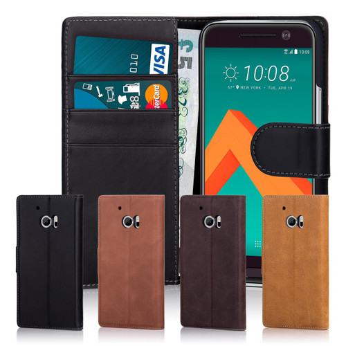 32nd premium leather book wallet HTC 10 Case.