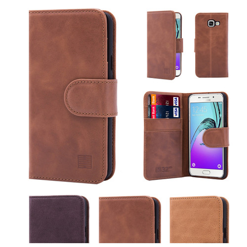32nd premium leather book wallet Samsung Galaxy A3 (2016) Case.