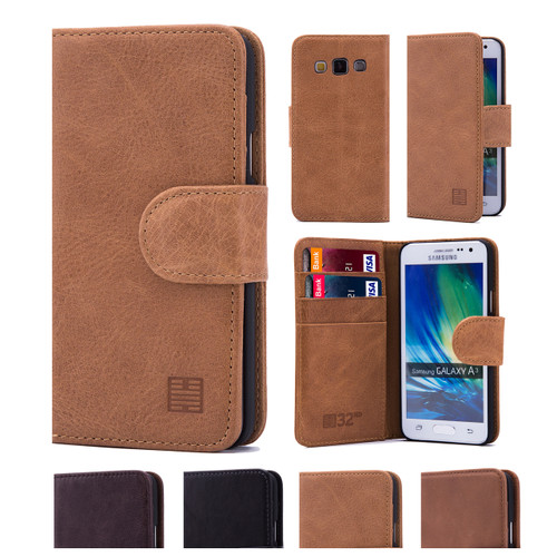 32nd premium leather book wallet Samsung Galaxy A5 (2016) Case.