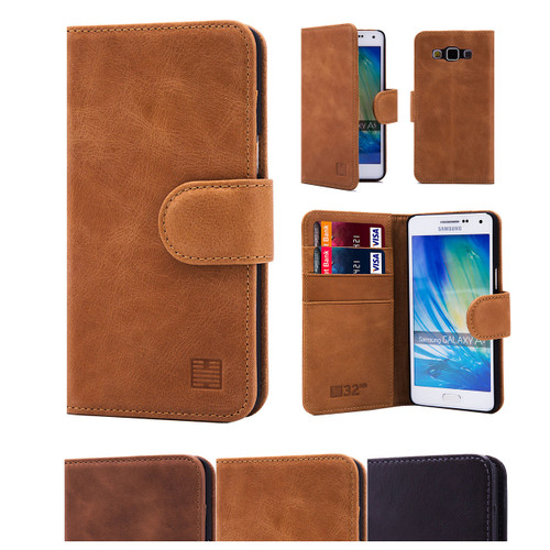 32nd premium leather book wallet Samsung Galaxy A5 (2015) Case.