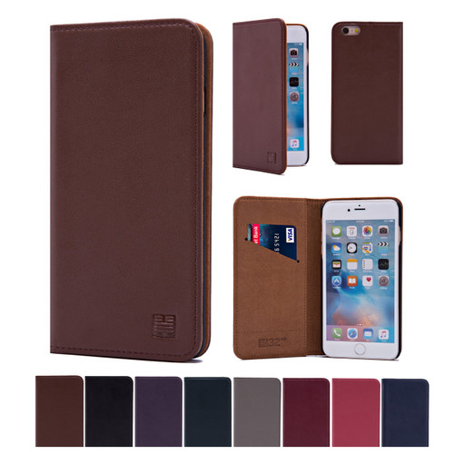 32nd real leather classic wallet Apple iPhone SE Case in a range of stylish colours.