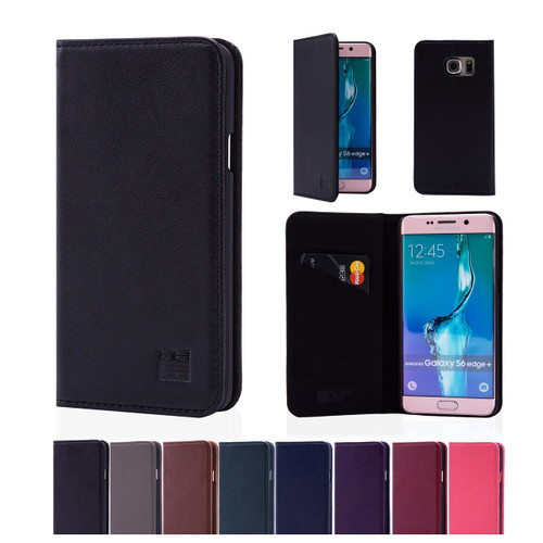 32nd real leather classic wallet Samsung Galaxy S6 Edge Plus Case in a range of great colours.