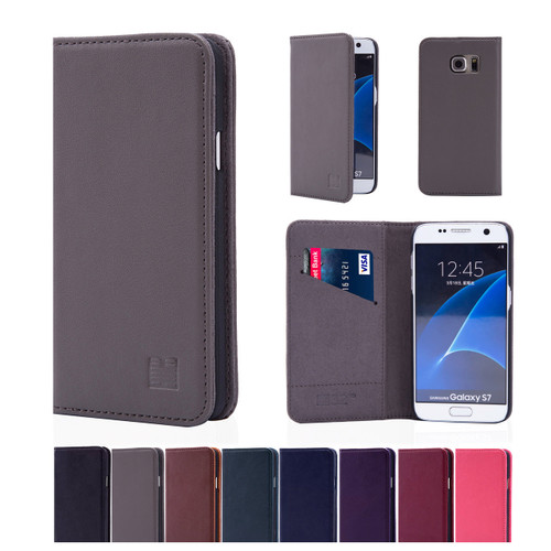 32nd real leather classic wallet Samsung Galaxy S7 Case in a range of colours.