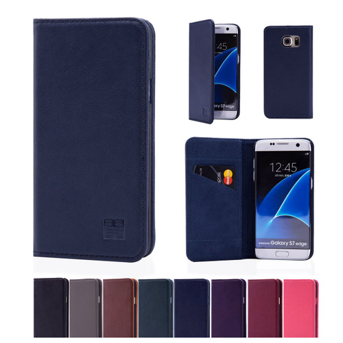32nd real leather classic wallet Samsung Galaxy S7 Edge Case in a range of colours.