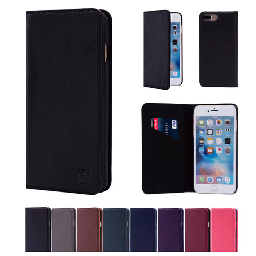 32nd real leather classic wallet Apple iPhone 7 Plus 5.5 inch Case in a range of colours.