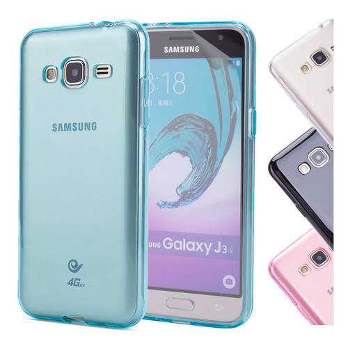 32nd clear gel Samsung Galaxy J3 (2016) Case in a range of colours.