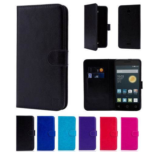 "32nd synthetic leather book wallet Alcatel Pixi 4 6.0"" (3G) Case in a range of colours."