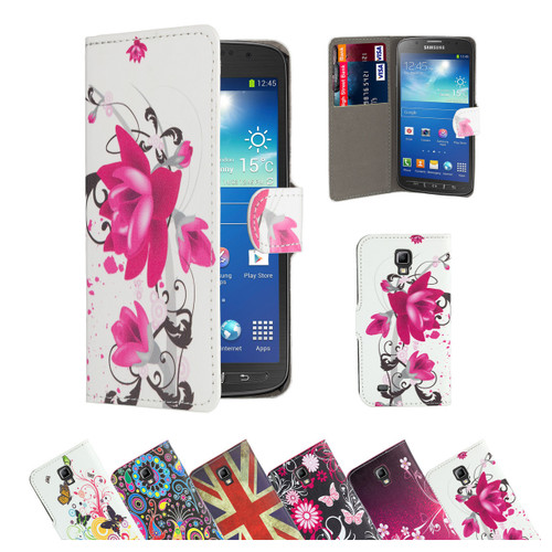 32nd synthetic leather design book wallet Samsung Galaxy S3 Mini Case.