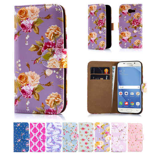 32nd synthetic leather floral design book wallet Samsung Galaxy A5 (2017) Case.