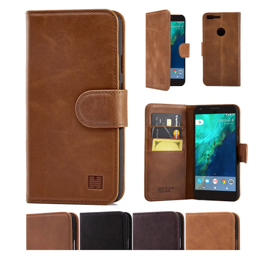 32nd premium leather book wallet Google Pixel XL Case.